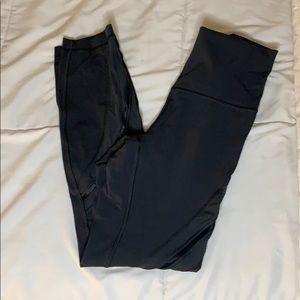 Lululemon Dark Gray Mesh Detail Legging